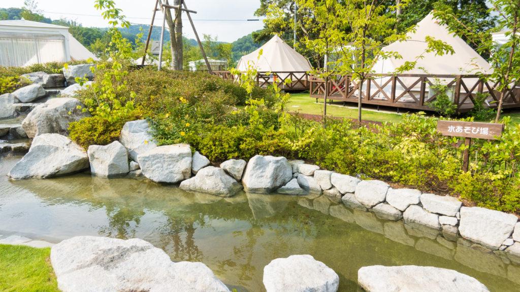 ウフフビレッジの水遊び場