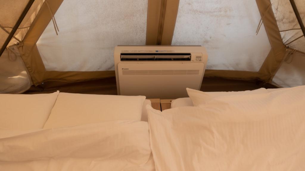 テント内の空調