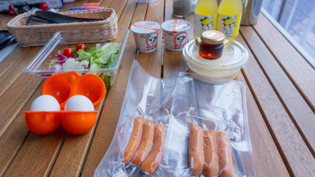 朝食の食材