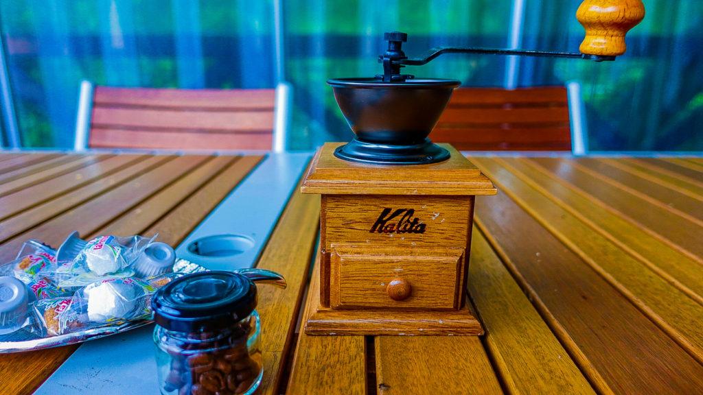 朝のコーヒー作り