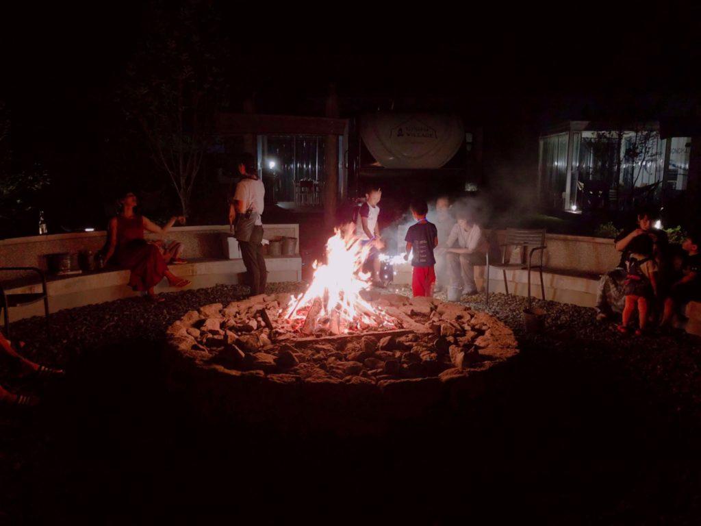 ウフフビレッジの焚火